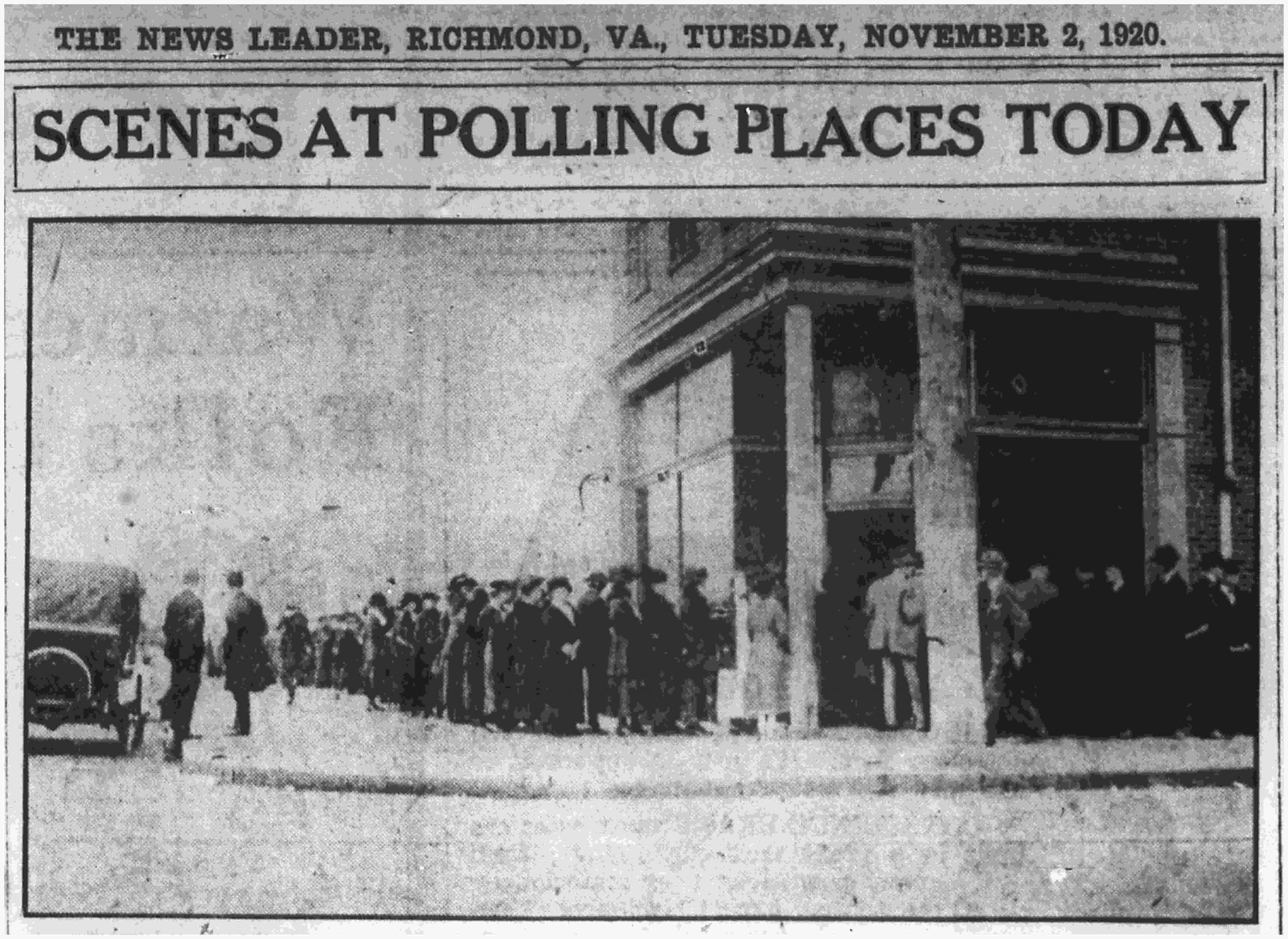 """A day of triumph and dignity"": Virginia Women Vote in 1920"
