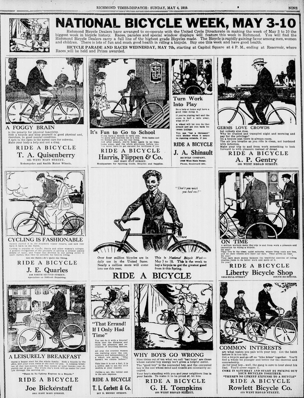 Random Reference: Bicycling in the Time of Pandemics and Wars