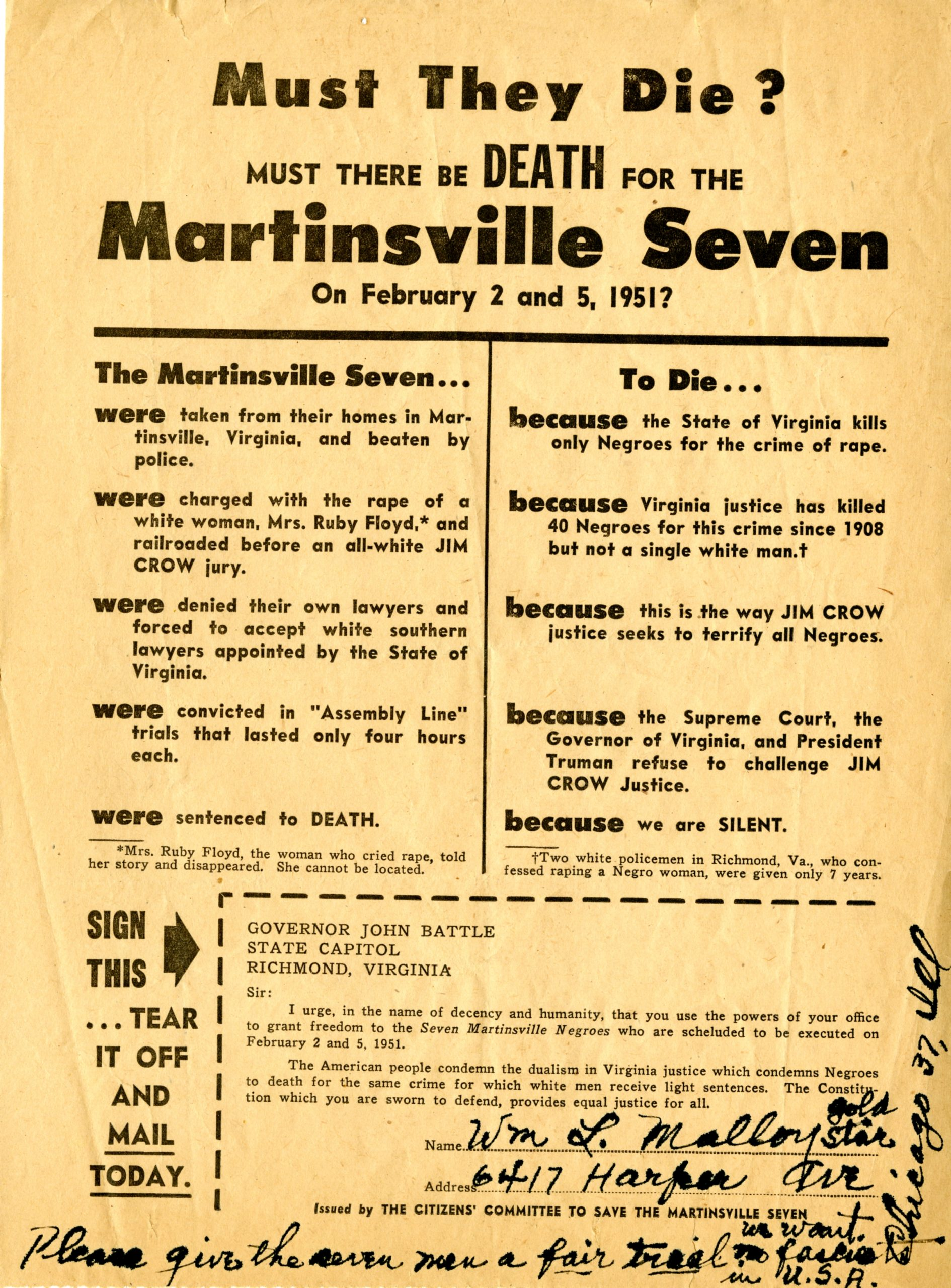 Seeking Justice for The Martinsville Seven