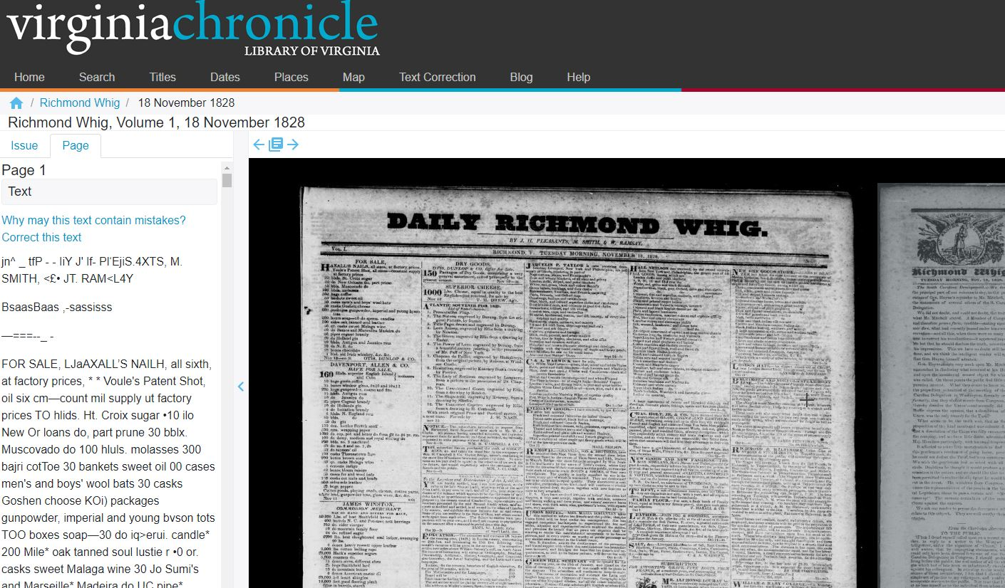 Spanning (and Scanning) the Commonwealth: New to Virginia Chronicle